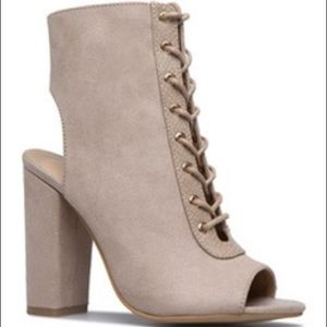 Giselle Laced Up Open Toe Heel